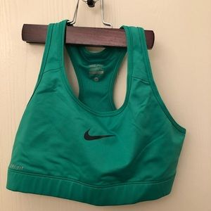 Green Nike Drifit Sports bra